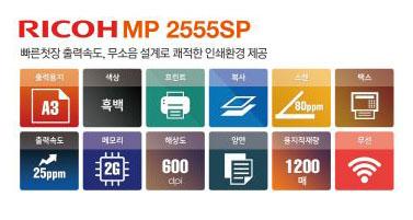 흑백복사기렌탈 RICOH MP2555